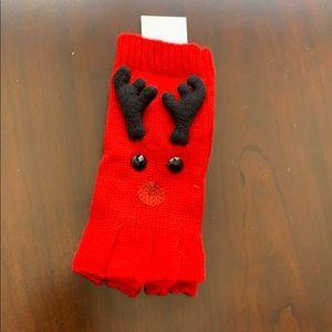 Other - Reindeer fingerless gloves NWT